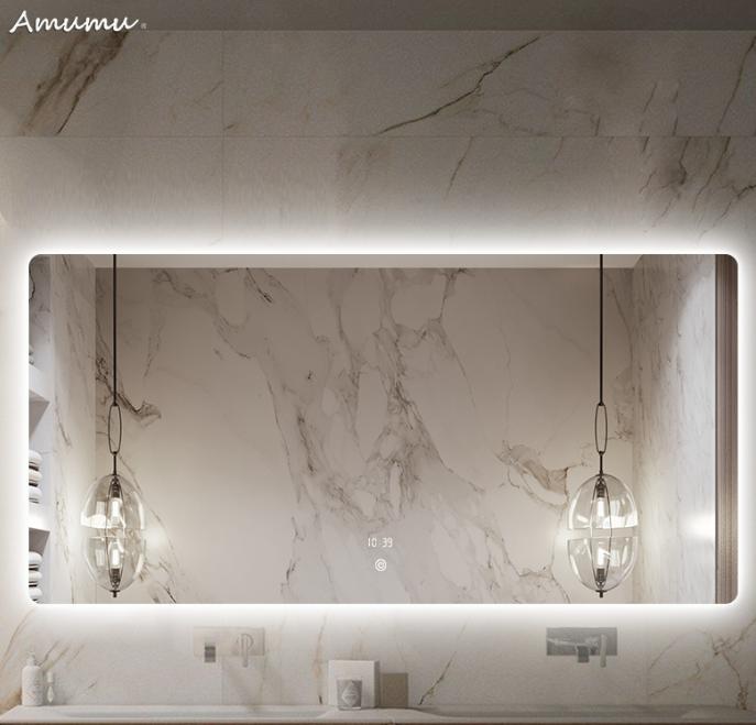 灯镜挂墙式洗脸镜发光除雾卫生间镜子led阿木木浴室镜壁挂智能镜