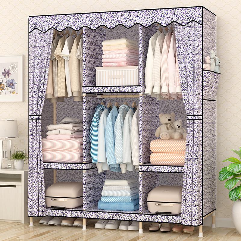 Воспоминания классическая ретро легко ткань гардероб дерево ткань сборка сочетание разборка сложить шкаф весить одежду полка гардероб