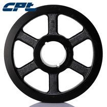 CPT cast iron pulley spz200-02-2012 diameter 200 double groove containing cone set European standard sewing machine belt wheel