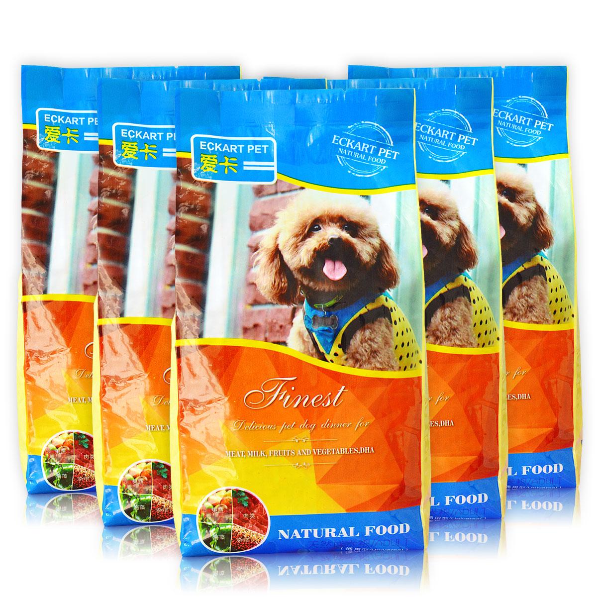 愛卡天然成犬糧2.5kg^(500g^~5袋^)泰迪貴賓金毛幼犬狗糧美毛包郵