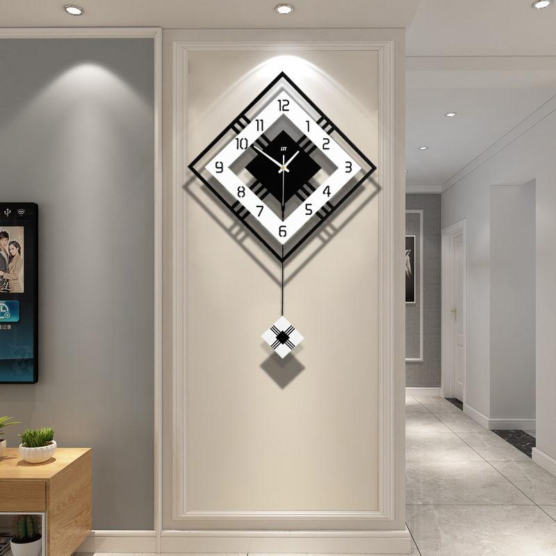 钟表挂钟客厅北欧现代静音大气时尚个性简约装饰时钟创意家用挂表