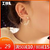 925银针独角兽无耳洞耳夹耳环女气质2020新款潮小众设计感耳饰品