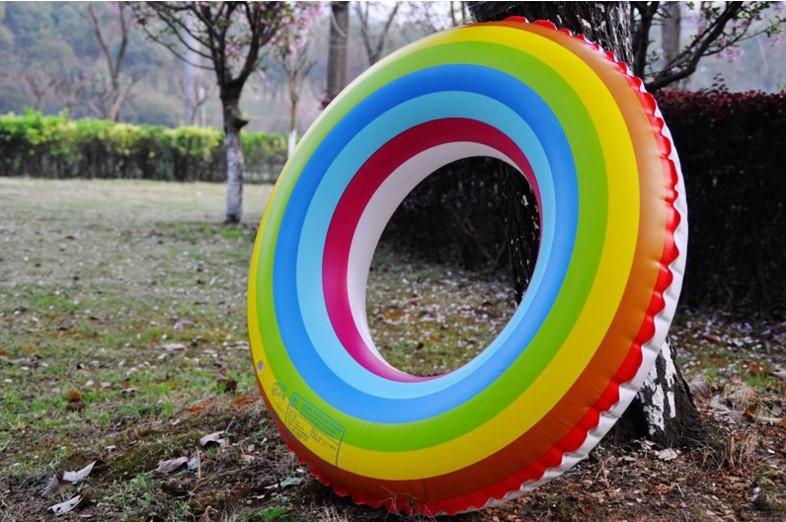 水果泳圈 加厚成人儿童游泳圈 彩虹腋下圈装备救生圈 浮圈