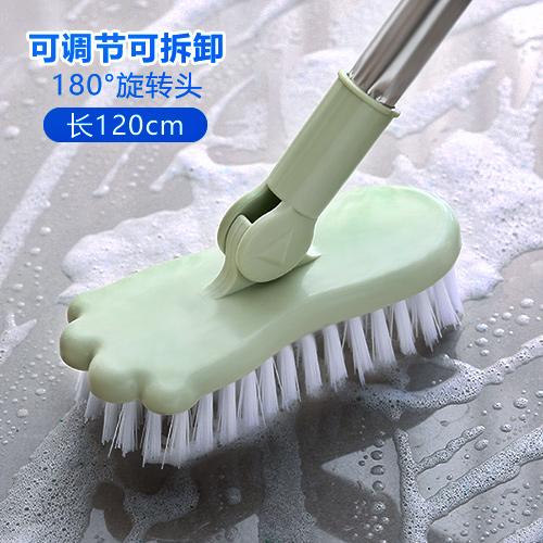 虎骑士浴室长柄刷子硬毛地板刷卫生间地刷浴缸刷瓷砖刷地板清洁刷 - 封面