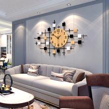 北欧创意钟表挂钟客厅家用时尚 时钟现代简约大气静音表石英钟 个性