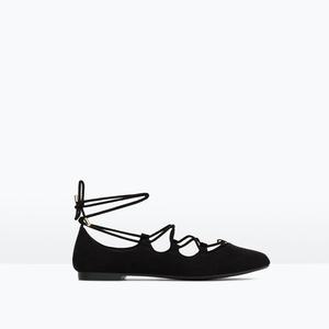 绑带芭蕾舞鞋平底鞋秋季新款复古甜美单鞋交叉系带时尚女鞋学生鞋