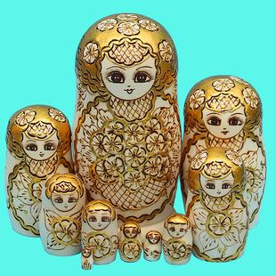椴木风干0709 俄罗斯套娃正品 10层儿童玩具生日礼物民族手工艺品