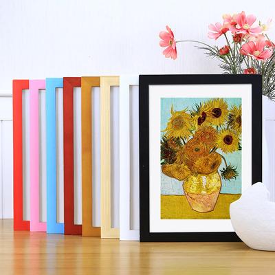 实木相框挂墙画框架装裱8K开4k木条自己组装外框A3拼图海报定制a4