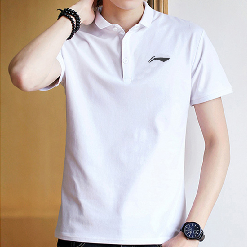 Li Ning flagship official website short sleeve men's new summer cotton lovers white men's and women's Polo Shirt breathable polo sports T-shirt