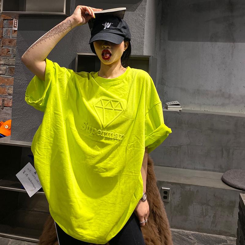 欧洲站欧货大版欧美款短袖t恤女洋气宽松韩版大码辣妹风半袖新款t