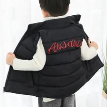 男童装棉衣小男孩子棉服背心中大童棉袄绣花冬季外穿马甲女童坎肩
