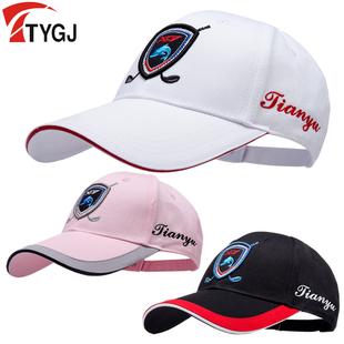 包邮高尔夫球帽 高尔夫男士帽子 女士有顶帽 撞色透气舒适运动帽