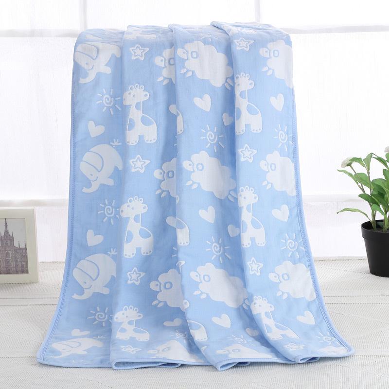 (用49元券)婴儿纱布浴巾 新生儿纯棉纱布夏季薄款盖毯 儿童大毛巾被宝宝盖被