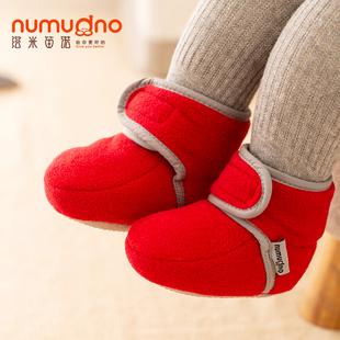 婴儿棉鞋0-1岁软底男女学步宝宝鞋6-12月春秋冬新生儿步前鞋加绒品牌