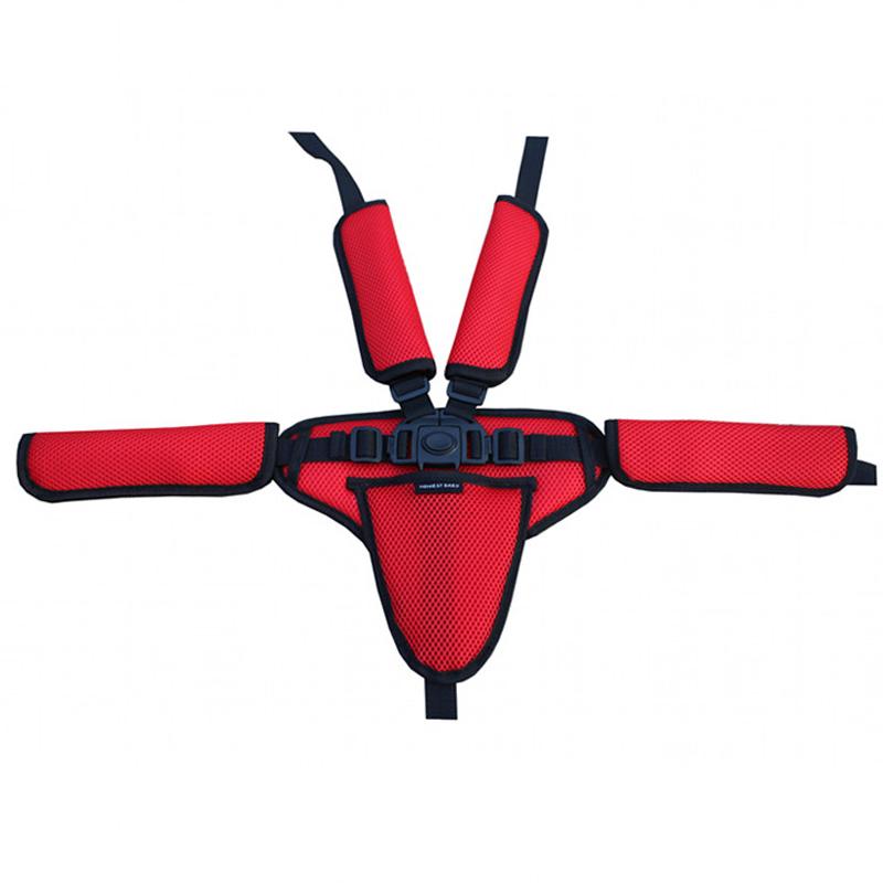 護肩護襠套護墊適用於座椅手推車嬰兒推車餐椅三點式五點式安全帶