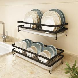 碗架沥水架壁挂式免打孔 碗碟收纳厨房置物架家用台面迷你小新型图片