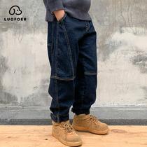 儿童装男童加绒牛仔裤冬装2020年新款大童保暖棉裤冬季加厚裤子潮