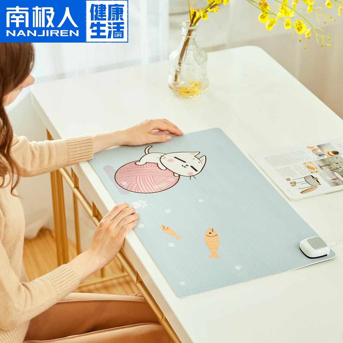 暖手桌垫加热办公室发热垫暖桌垫安全电脑鼠标垫学生写字暖手垫宝