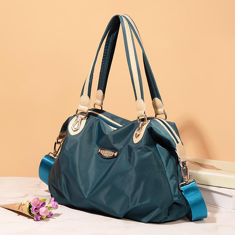 时尚斜挎包女2021新款牛津布女包大容量单肩包通勤包包上班帆布包