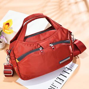 夏季手提包女2021新款尼龙女包牛津布斜挎包大容量包包单肩帆布包