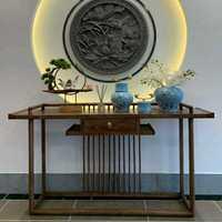 老榆木家具新中式玄关桌仿古条案禅意供桌佛台条几纯实木墙边柜
