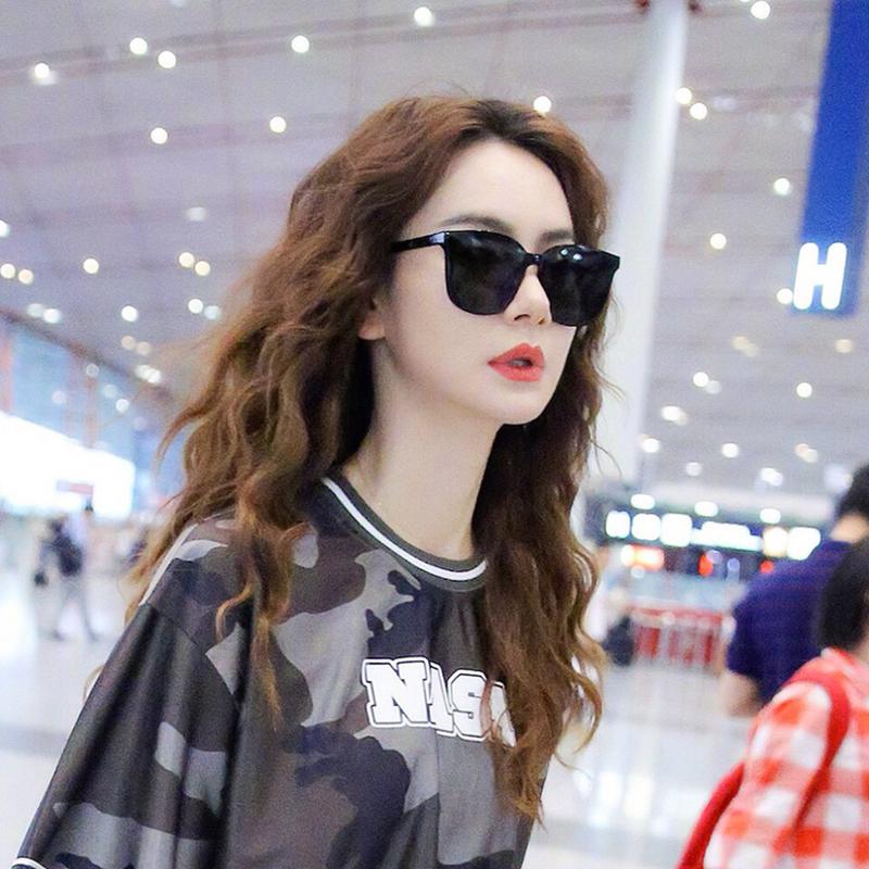 ins墨镜女韩版潮街拍网红街拍男士gm19新款防紫外线太阳眼镜圆脸