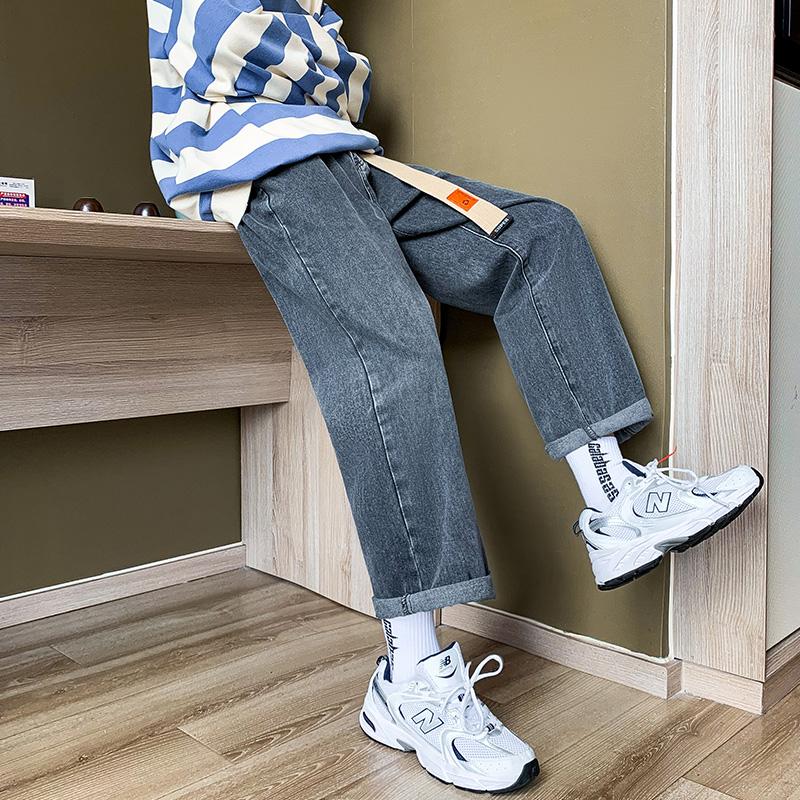男春秋新款潮流潮牌百搭纯色牛仔裤好不好