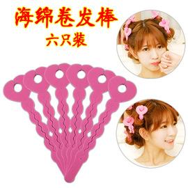 家用韩国汤头发的卷发棒梨花头水波纹卷海绵不伤发干湿两用便携式图片