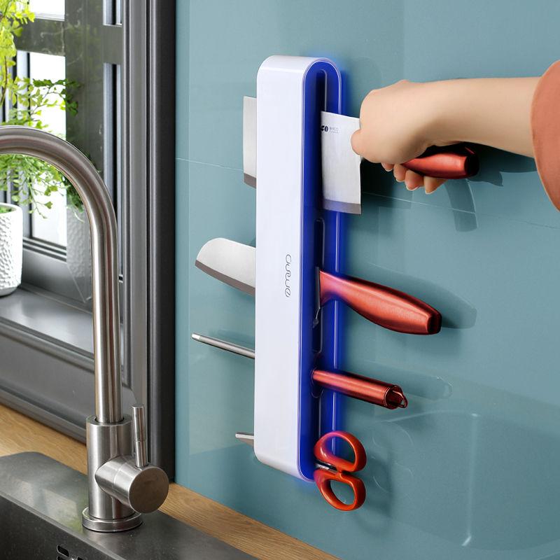 壁挂式多功能厨房用品免打孔菜刀架