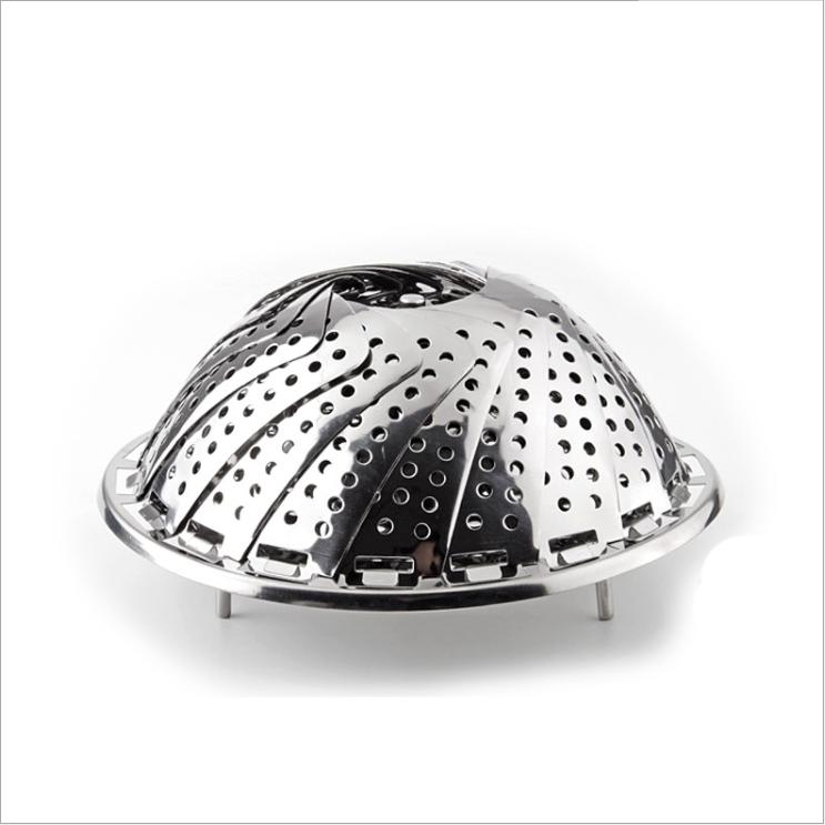 不锈钢蒸架蒸笼盘蒸架蒸屉蒸盘器蒸格水果篮蒸菜架可伸缩折叠蒸架