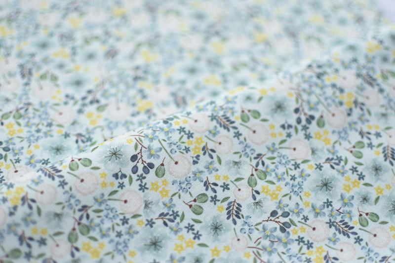韩国进口棉布清新蒲公英柔软服装娃衣裙子手工幅宽110CM半码价