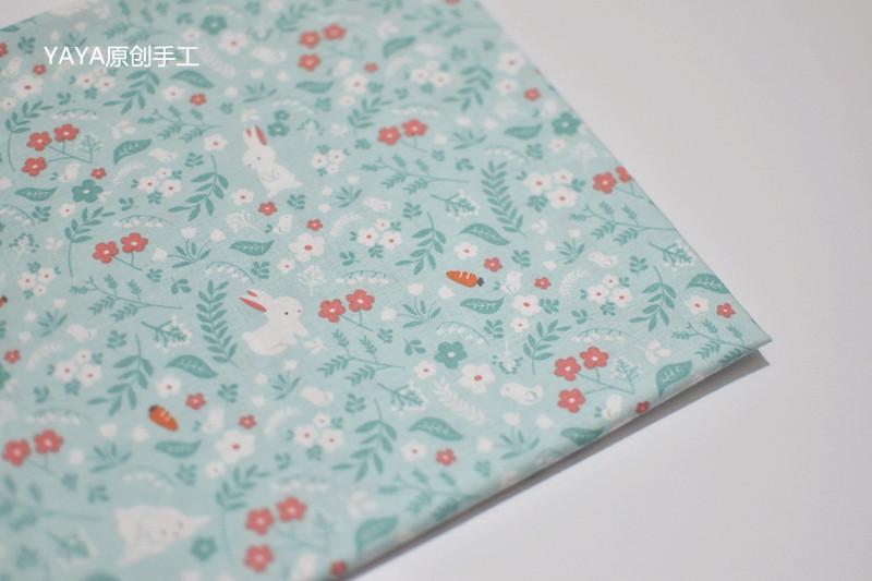 韩国进口布料棉布小兔子柔软服装娃衣裙子衬衣手工DIY半码价
