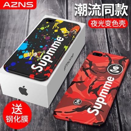iPhone8手机壳苹果7Plus保护套硅胶i8防摔iphone7夜光7P全包i7软壳个性创意网红潮牌8p女款4.7男5.5寸八plus