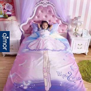 女童床上用品四件套公主房1.2 m