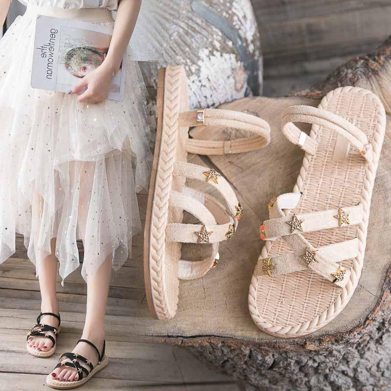 一鞋两穿平底凉鞋女厚底仙女风软底外穿可湿水百搭显瘦拖鞋夏秋款