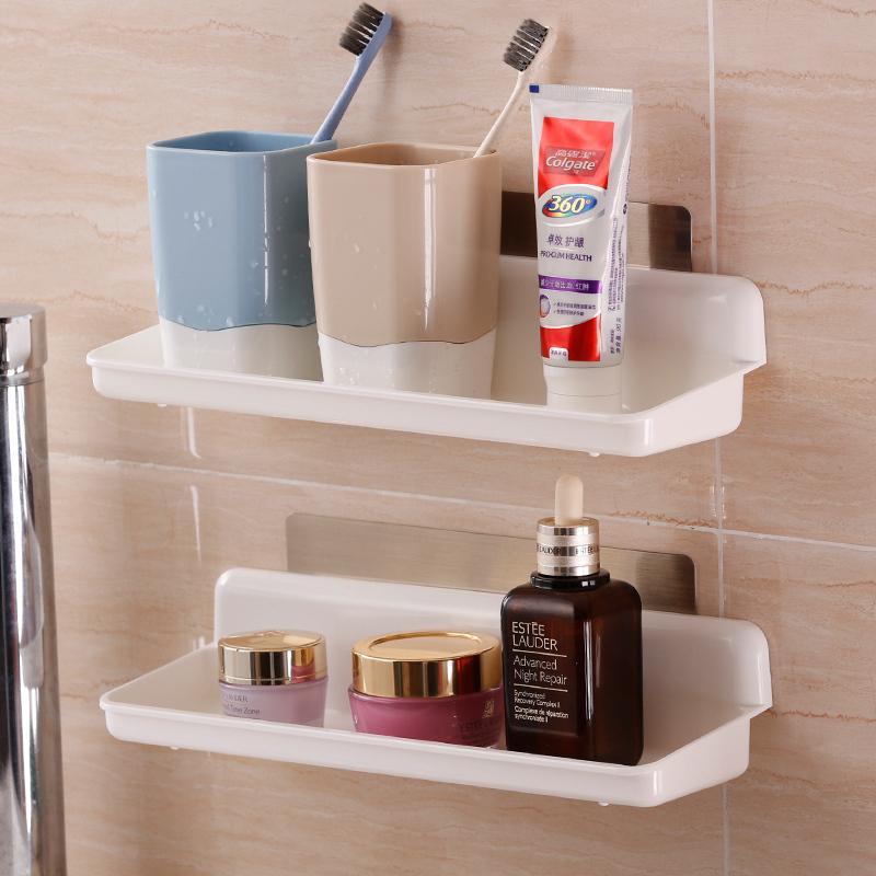 卫生间置物架免打孔厨房收纳架浴室沥水储物架壁挂洗漱架厕所收纳
