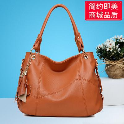 女包2020新款大包手提单肩斜挎软皮大气简约韩版大容量中年妈妈包 - 封面