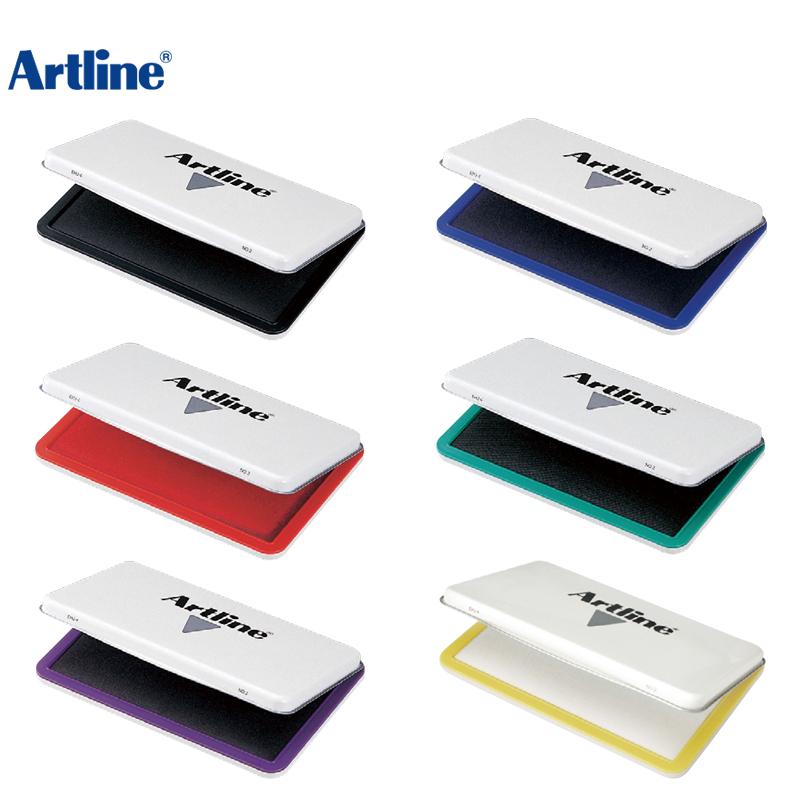 日本旗牌 Artline办公用特大号红色印台印泥EHJ-4 财务银行办公多款印章配套适用印字清晰颜色鲜艳便携方便