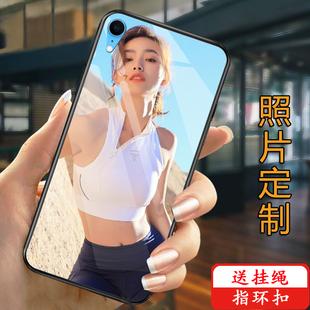 max任意型号8 7照片6P八女款 创意情侣xr自制 苹果x手机壳定制iphonexs玻璃6s保护套软7plus来图订做diy苹果xs