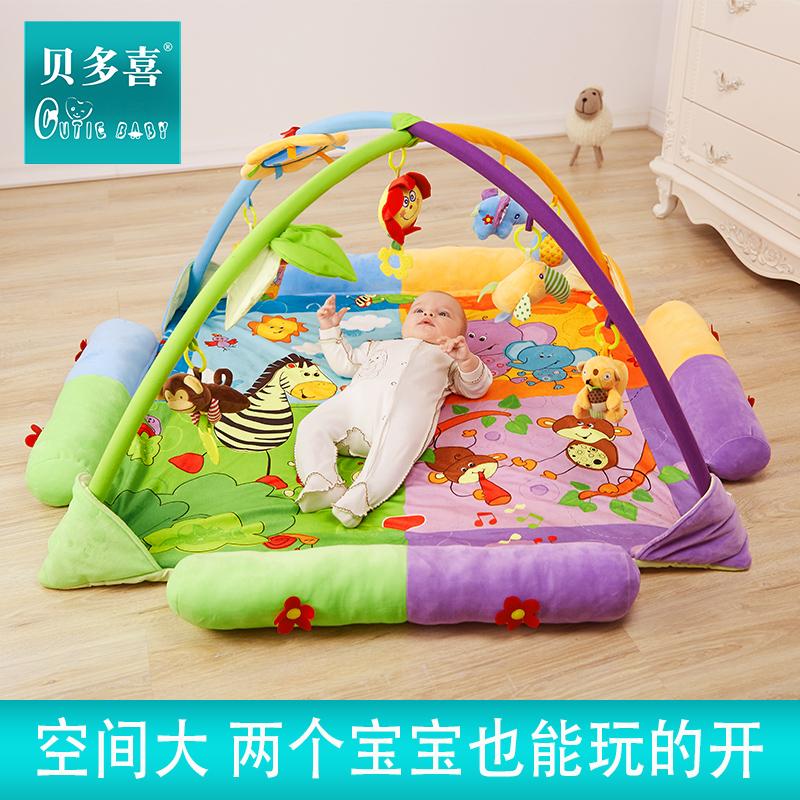 新生婴儿童玩具音乐游戏毯垫健身架0-1岁3-12月宝宝用品满月礼物