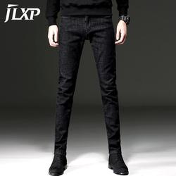 冬季黑色加绒牛仔裤男修身小脚潮牌男士秋冬款韩版潮流长裤子加厚