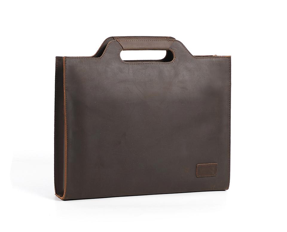 美式复古真皮头层牛皮公文包简约英伦男女士OL商务通勤手提电脑包