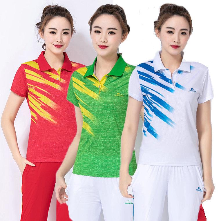 晋冠运动服T恤夏白色短袖梦之队柔力球服比赛演出服男女同款夏装