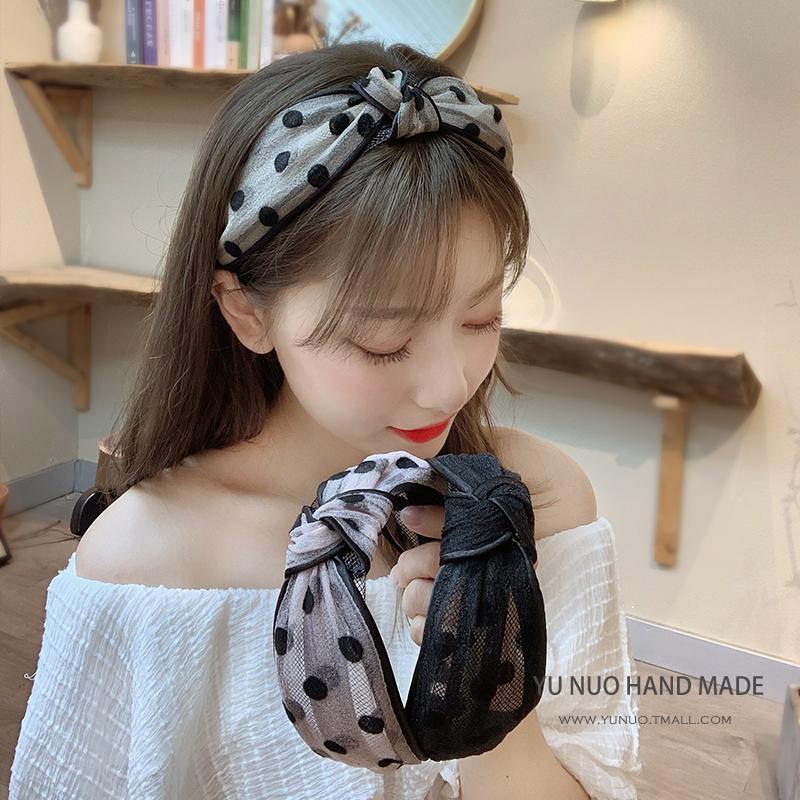 韩国网红网纱发箍女百搭仙女外出超仙发带洗脸森系头箍宽边压发卡