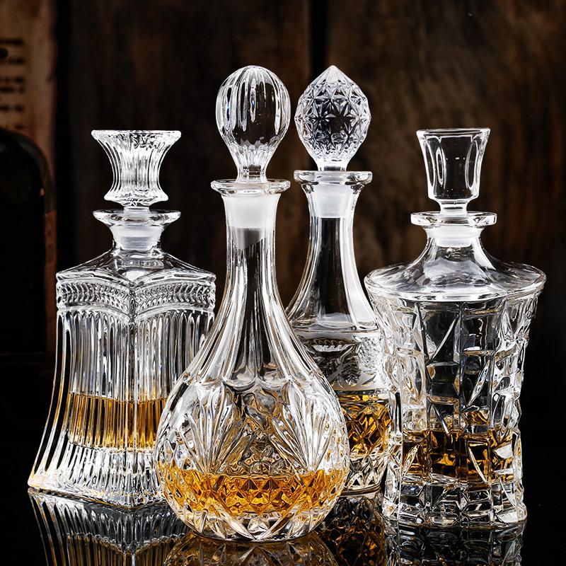 水晶玻璃红酒醒酒器家用带盖酒壶