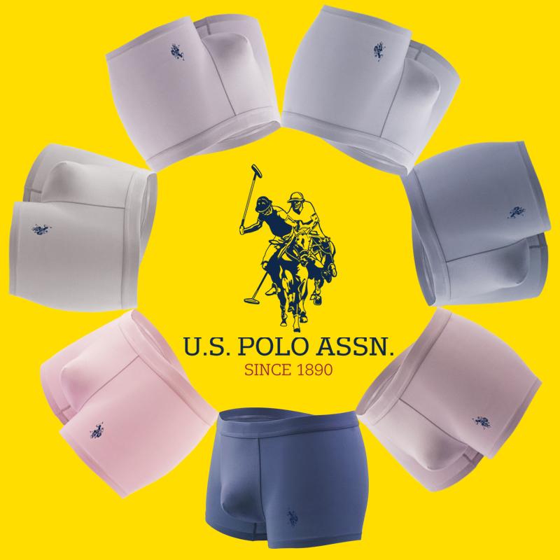 US POLO男士四角内裤纯棉平角裤60支短裤无痕透气夏季薄款个性骚