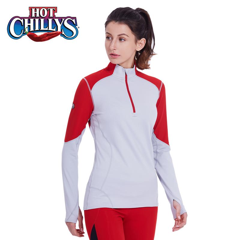 HOTCHILLYS红辣椒 女士F9拉领运动内衣登山滑雪抑菌排汗 HCA9442