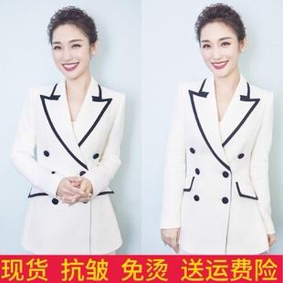 套装 炸街西服外套两件套职业装 白色西装 女韩版 英伦风气质春秋修身