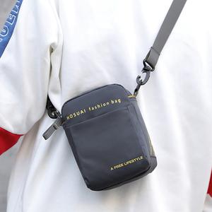 新款男包迷你小包包單肩斜跨防水牛津布休閑穿皮帶腰包零錢手機包