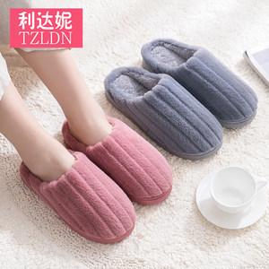 女居家用秋冬季室内保暖情侣毛棉鞋